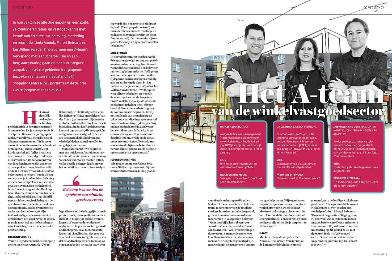 Artikel Het A-team van de winkelvastgoedsector © Urban Solutions gebiedsmarketing I vastgoedmarketing