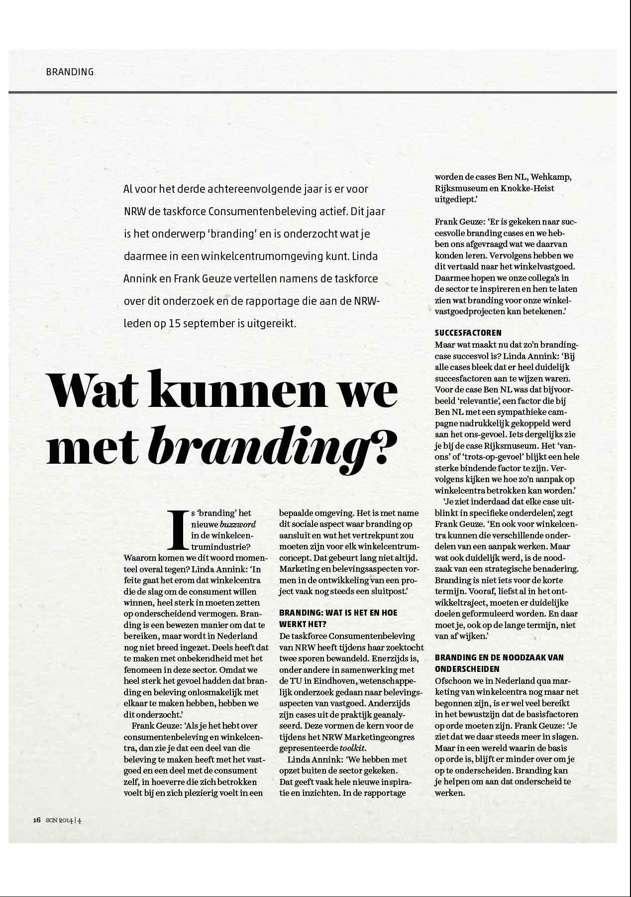 Artikel wat kunnen we met branding © Urban Solutions gebiedsmarketing I vastgoedmarketing