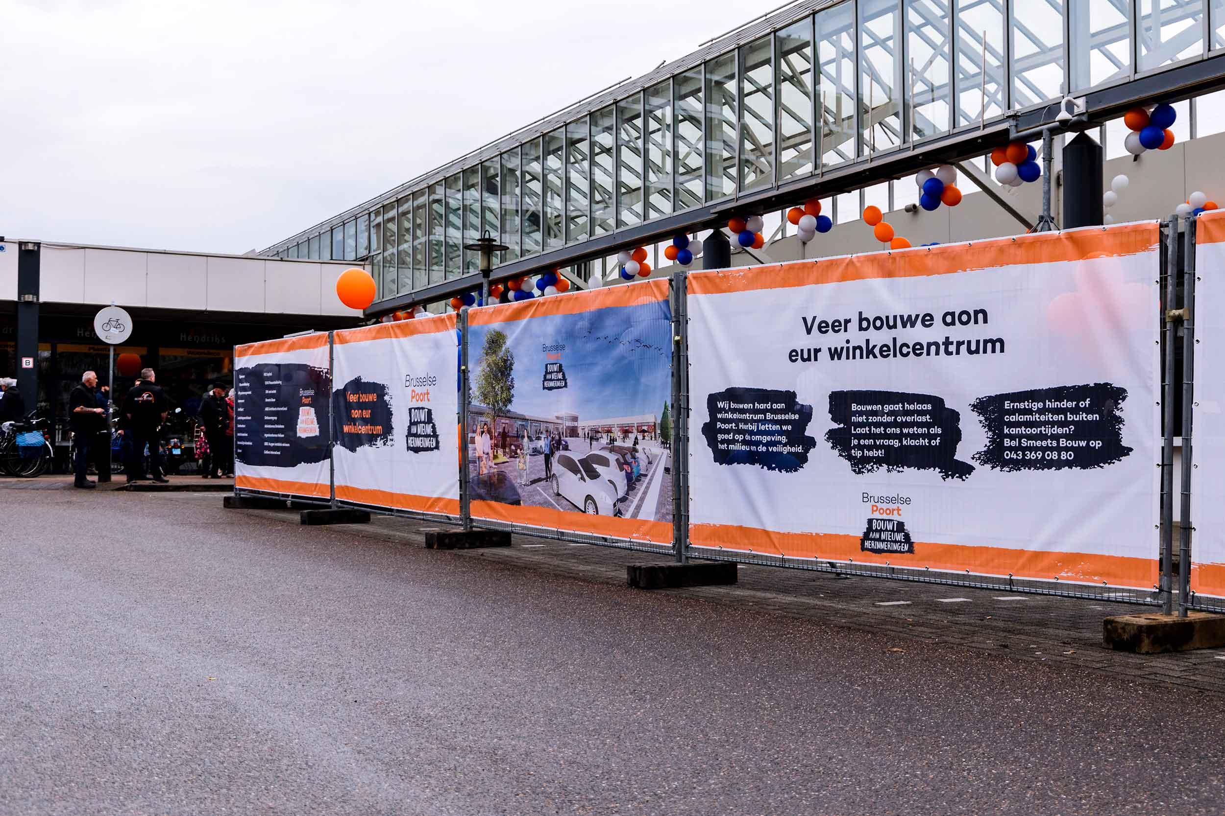 Brusselse Poort bouwdoeken heropening © Urban Solutions (story telling - campagne)