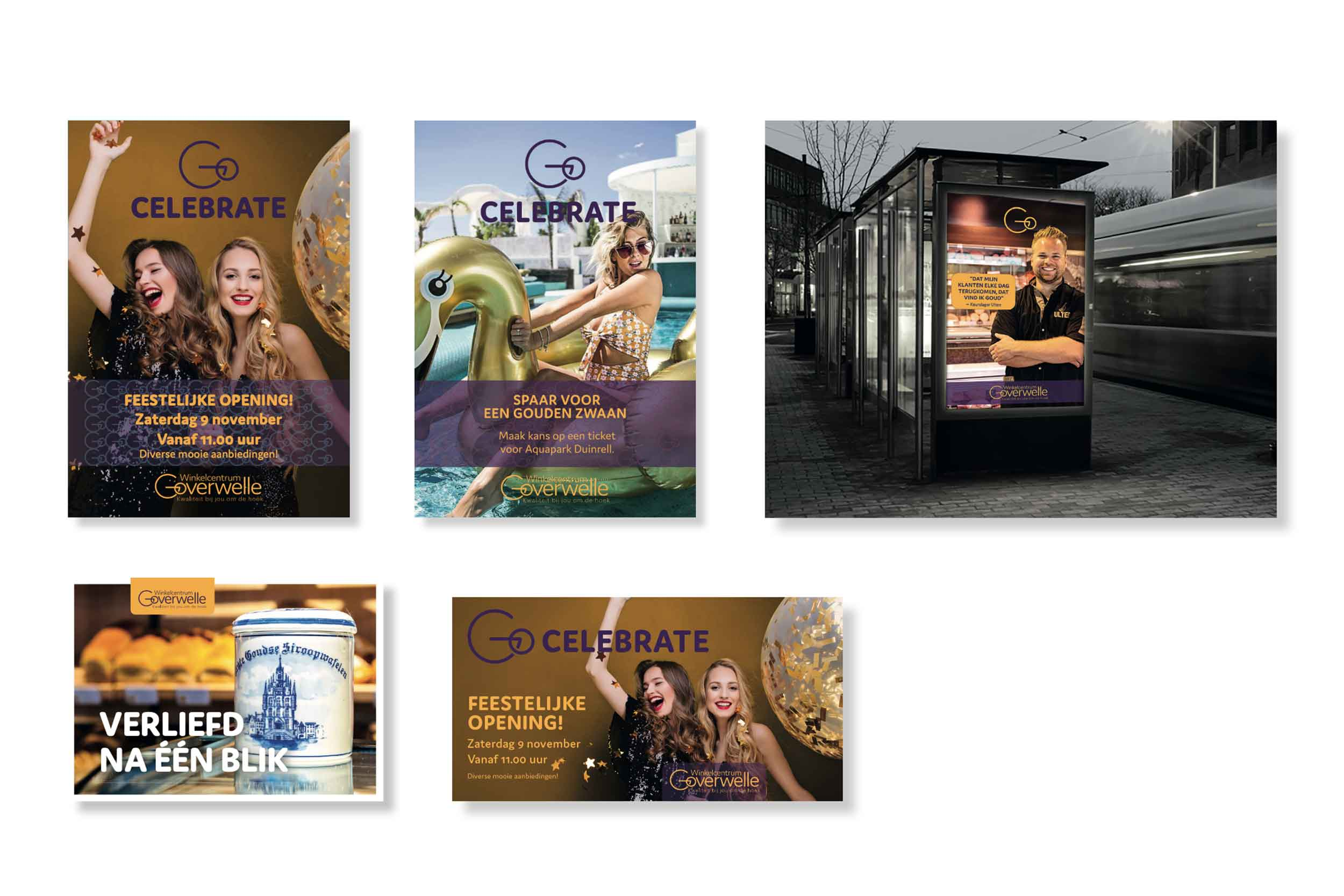 Winkelcentrum Goverwelle - Gouda reclame posters © Urban Solutions (strategie - concept)