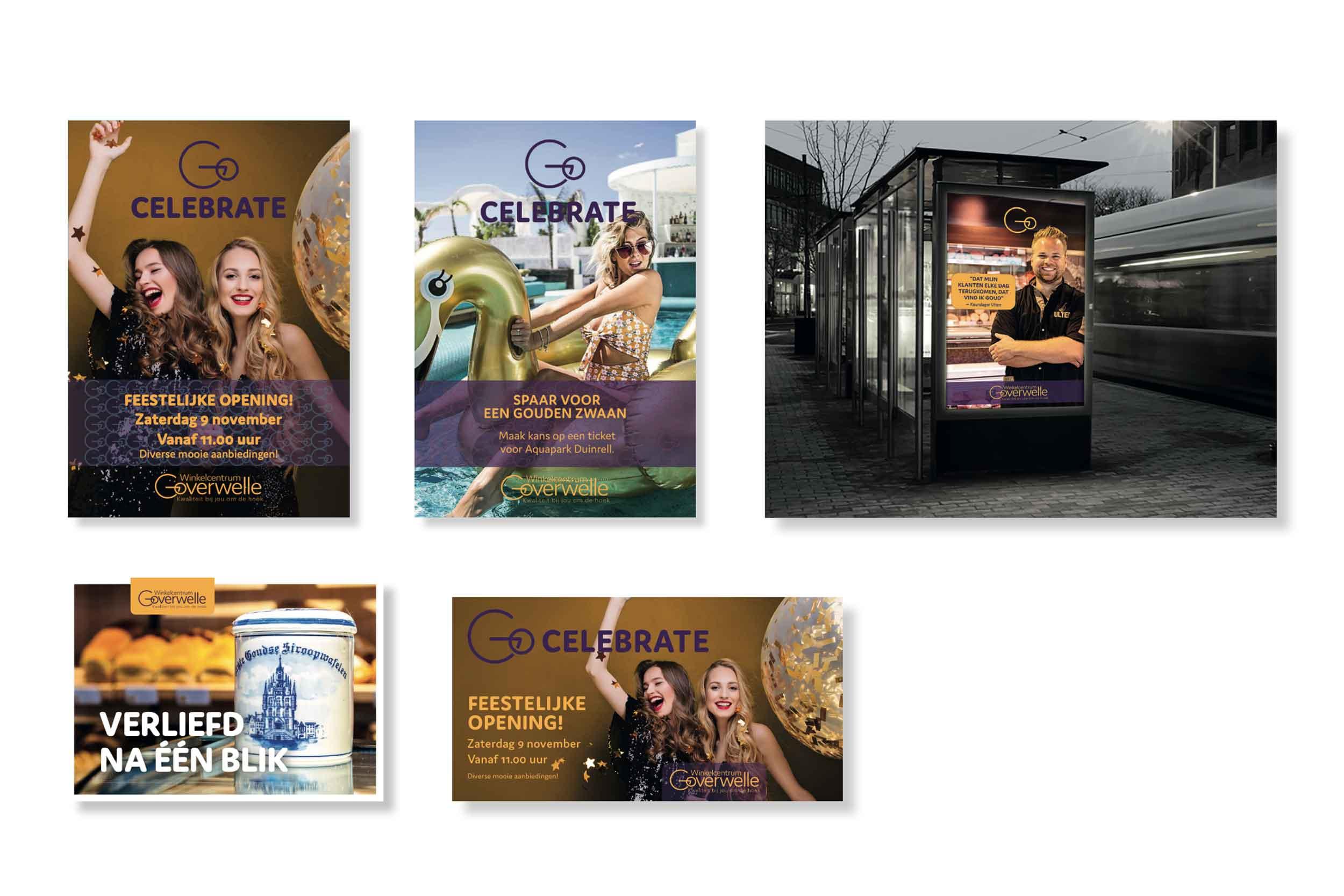 Winkelcentrum Goverwelle - Gouda reclame posters © Urban Solutions (strategie - concept)