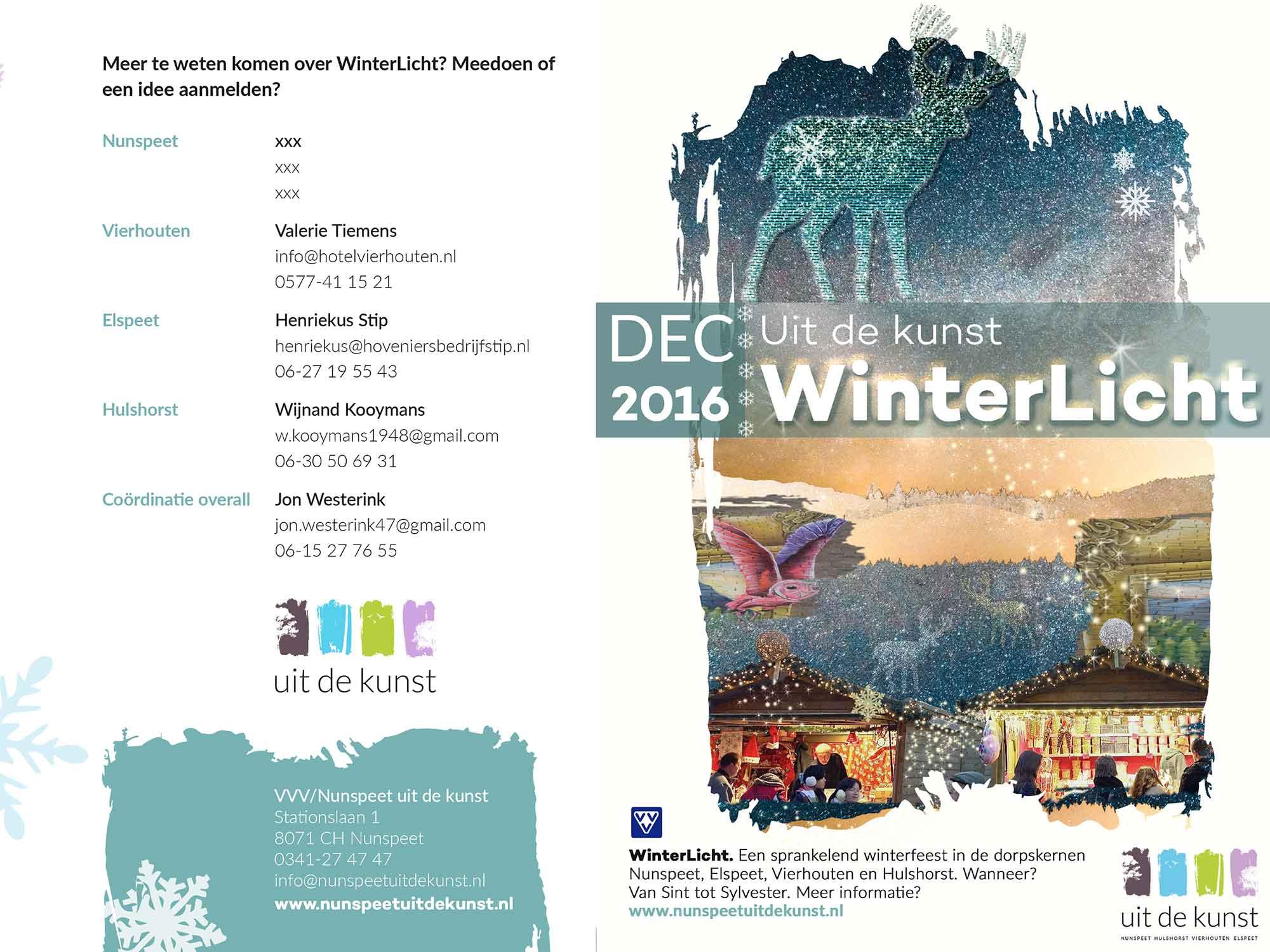 Nunspeet I Uit de kunst Winterlicht I flyer © Urban Solutions (placemaking - placebranding)